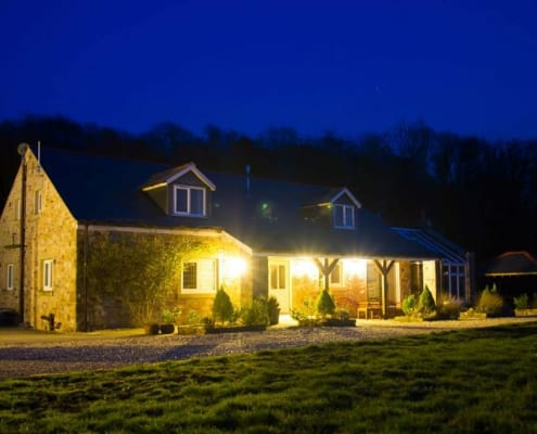 Woodpecker Cottage at Night